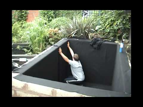 Pond liner installation video from qbs butyl uk youtube for Square fish pond