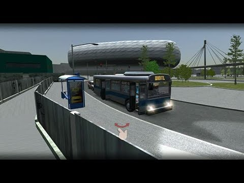 (real mode)Bus Simulator 17.Munchen industry self-routes 1