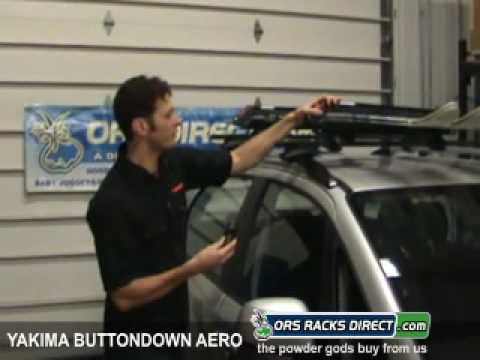 Yakima Ondown Aero Snowboard Ski Rack Review Demonstration