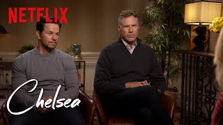 one word answers with will ferrell and mark wahlberg chelsea netflix