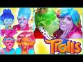 Trolls Bridget Poppy Compilation Makeup tutorial Branch Poppy kiss - Disney Makeup Toys