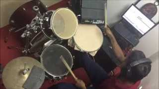 "DIY DRUM SET & EASY RECORDING ,""Zygnema"" (India) - Discriminate (Drum Cover)"""