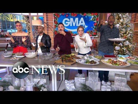 Charlamagne Tha God, Oscar De La Hoya and Carla Hall cook together
