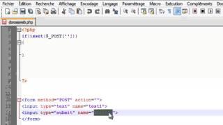 كيفية أخد المعلومة في php method POST