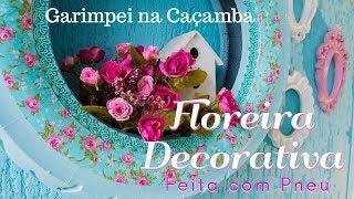 Floreira Decorativa Feita com Pneu – Garimpei na Caçamba