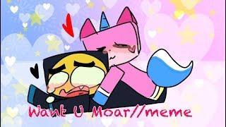 Want U Moar//meme ~ UniFrown {Unikitty} {Desc.}