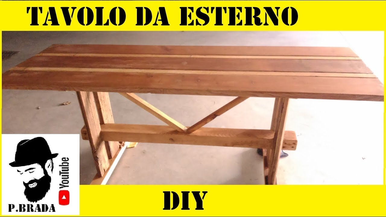 Tavolo Per Esterno Fai Da Te.Tavolo Da Esterno Con Legno Di Riciclo By Paolo Brada Diy Youtube