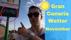 Wetter Gran Canaria November, Temperaturen in Maspalomas und Playa del Ingles