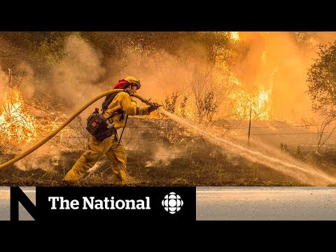 Destructive California wildfire