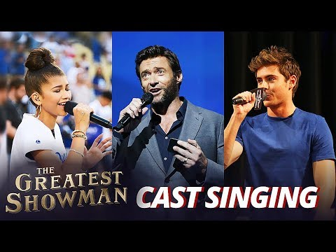 The Greatest Showman Cast REAL Singing...