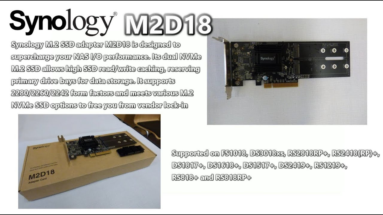 Synology M2D18 NVMe SSD Cache Card - Your Questions Answered