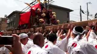http://tokotokoto.com 御霊神社(上御霊さん)の「御霊祭 神輿巡幸」の動画です。とりあえず速報として先ほど撮影したばかりの3基の御神輿が御霊神社...