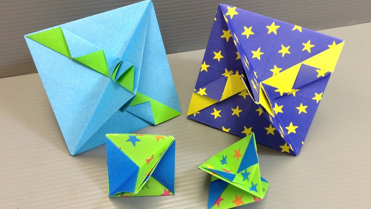 How to Make a Simple Colorful Origami Top - YouTube - photo#15