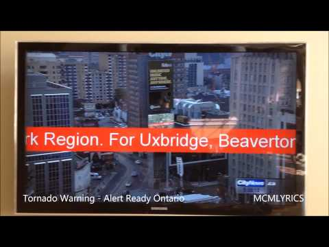 ALERT READY TORNADO WARNING | CANADIAN TV EAS ALERT