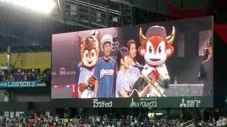 ファイターズvsオリックスの試合前にmiwaさんがゲストとして歌いました ...