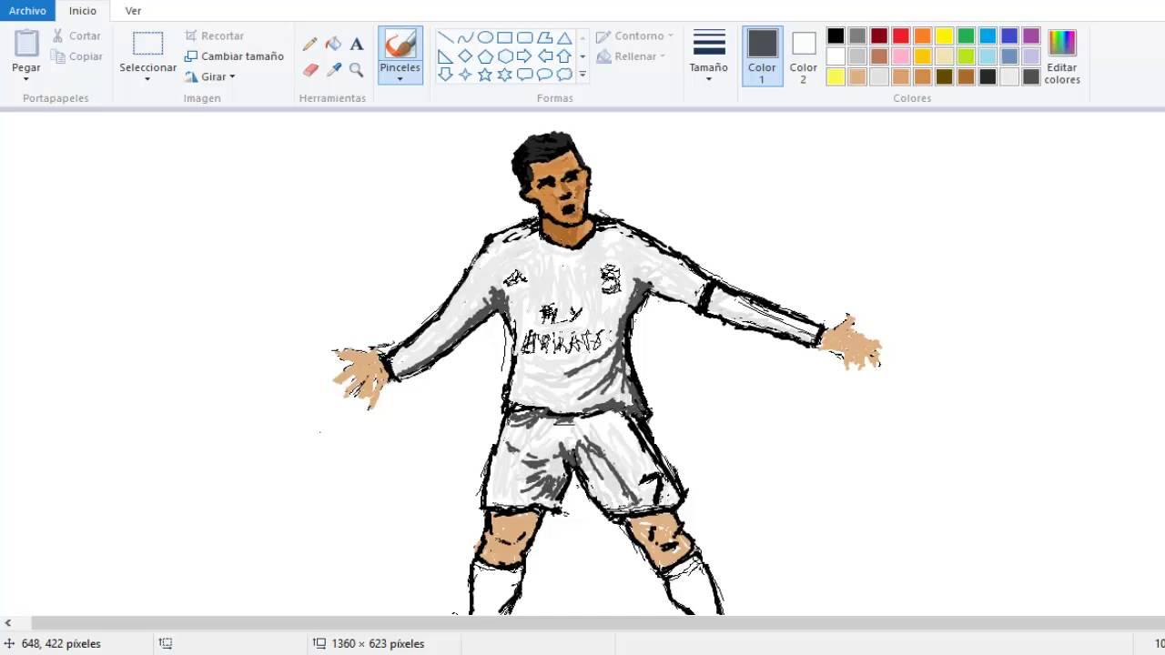 how to draw ronaldo tutorial