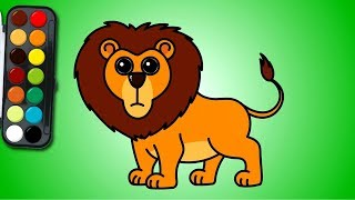 how to draw a lion | 사자 그리기 | easy drawing | learn Coloring for Kids