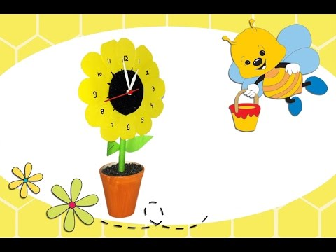 HOW TO MAKE SUNFLOWER CLOCK | DIY CLOCK AT HOME