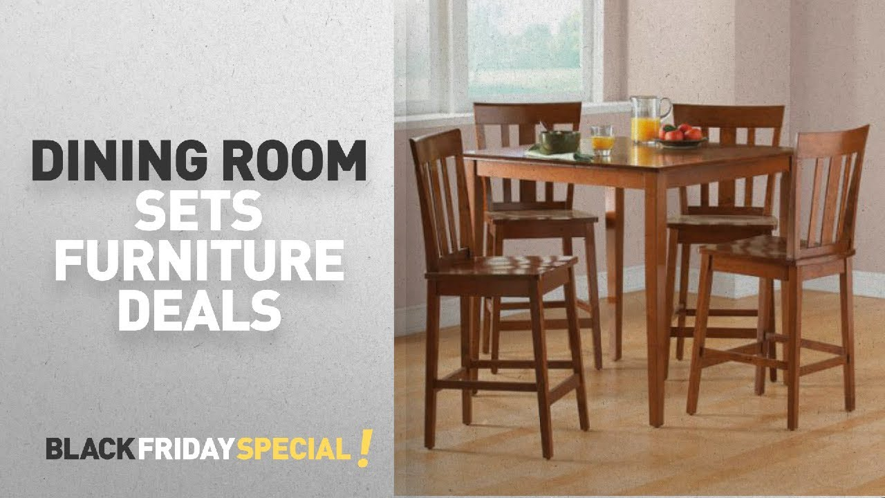 Walmart Top Black Friday Dining Room Sets Deals Mainstays 5 Piece Counter Height Dining Set
