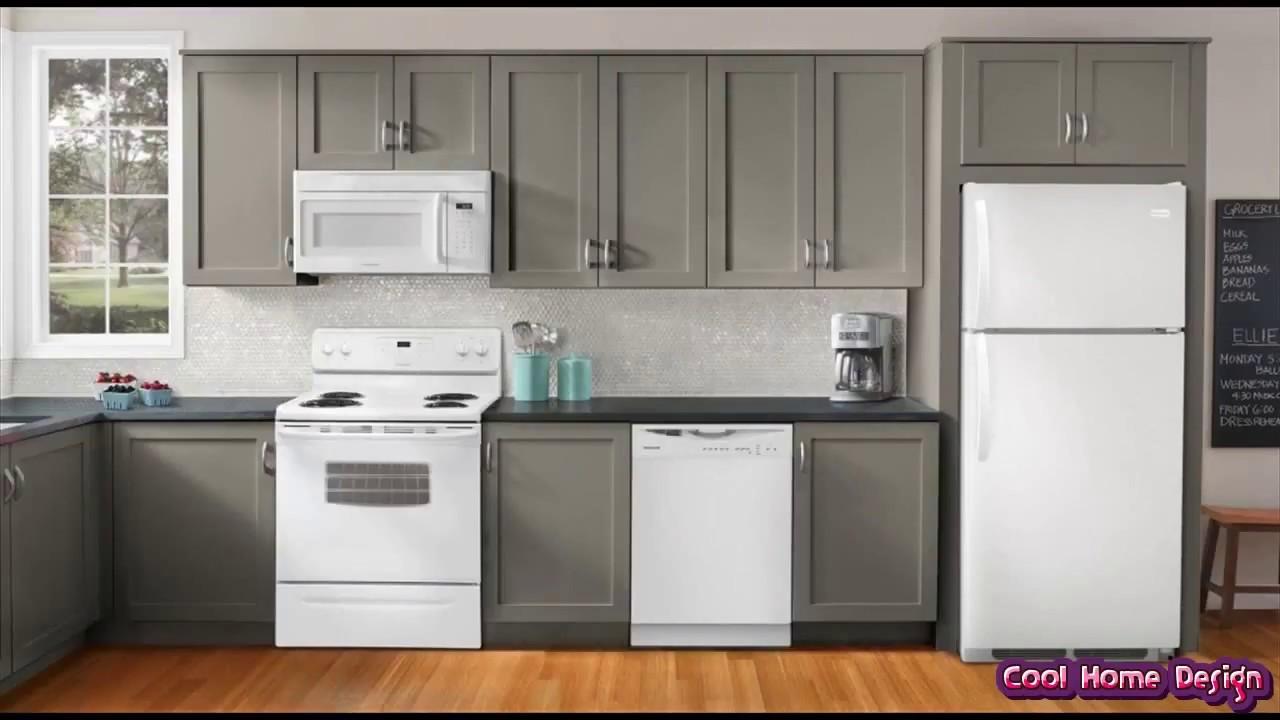 Kitchen with White Appliances - YouTube