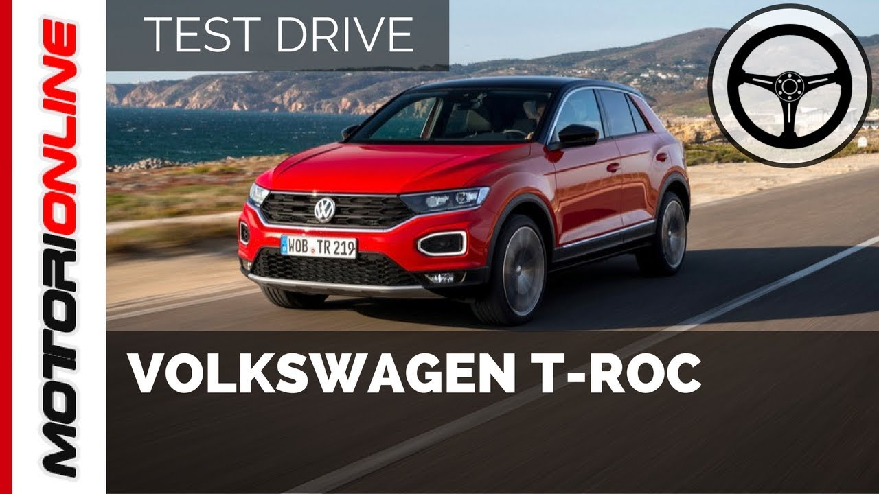 volkswagen t roc test drive in anteprima youtube. Black Bedroom Furniture Sets. Home Design Ideas