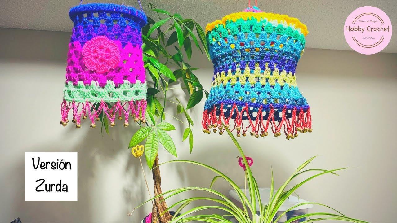 Móbil o lampara a crochet paso a paso (Versión Zurda)