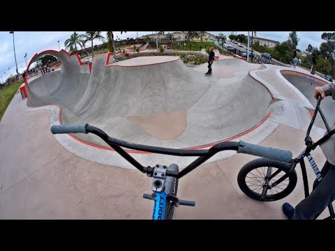 Riding BMX at Unreal California Skateparks