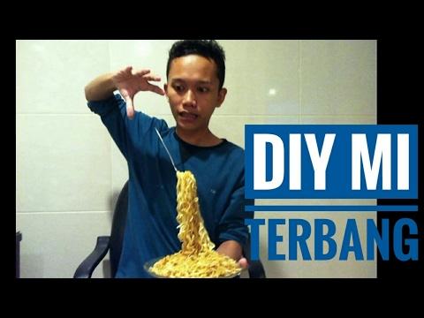 cara membuat magic mie terbang sendiri / how to make flying  noodles
