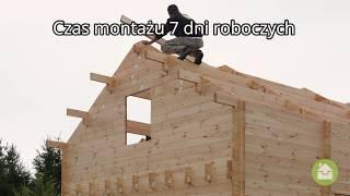 Dom drewniany z ociepleniem o powierzchni 60m2. Czas montażu 7 dni.