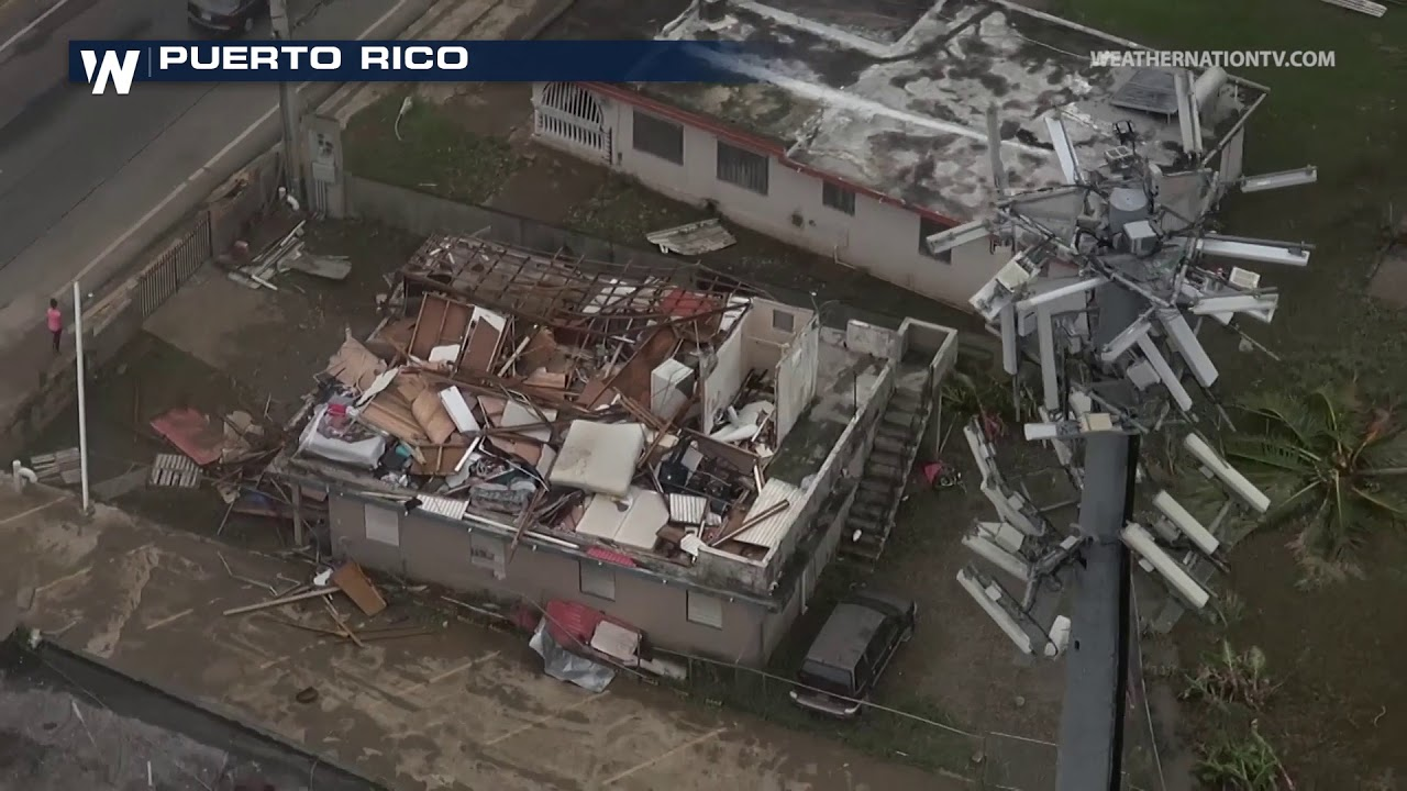 Aerial Footage Shows Hurricane Maria Damage in Puerto Rico