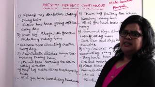 PRESENT PERFECT CONTINUOUS -  (PART- 2) - TELUGU TRANSLATE