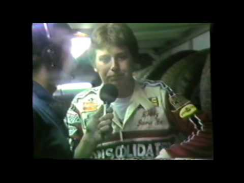 Jeff Ulrich in the pits  for Strawser Video  1986