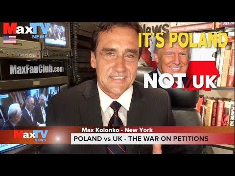 POLAND vs UK – wojna na petycje o Trumpa – Max Kolonko Mówię Jak Jest