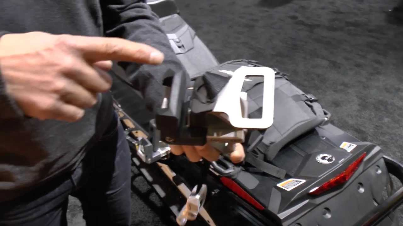 New Ski Doo Linq Snowboard Rack Option From Brp Youtube