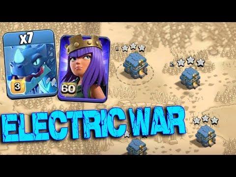 Max Electro Dragon Level 60 Archer Queen Max Balloon Attack | New Air Army 3 Star War Attack TH12