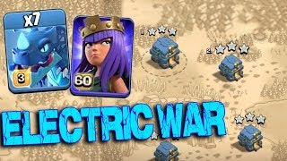 Max Electro Dragon Level 60 Archer Queen Max Balloon Attack | New Air Army 3 Star War Attack TH12