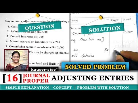 Adjusting Entries 16Journal Proper With Solved Problem