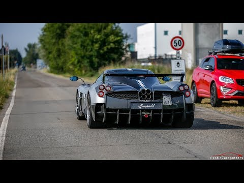 Supercars in Modena 2017 - VOL. 1 (Huayra BC, F12 TDF, 2x Huracan Performante, Huayra Roadster,...)