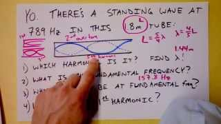 Standing Wave Harmonics in Half-Closed Pipe Worked Example (organ, clarinet)   Doc Physics