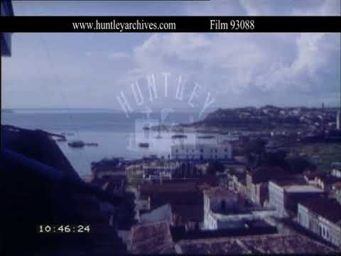 Manaus housing in the 1960's, Brazil.  Archive film 93088