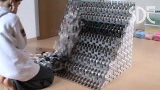 Domino Cube World Record Fail 5000 Stones