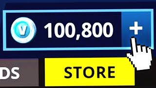 i actually bought 100,000 v bucks in fortnite ..