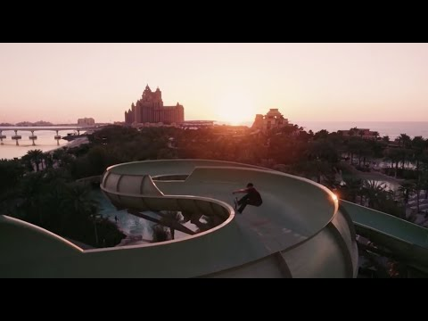 Dubai waterpark transforms into wicked skatepark when the water is turned off