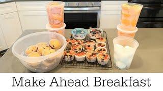 MAKE AHEAD BREAKFAST FΟR THE WEEK / COOK & PREPARE WITH ME