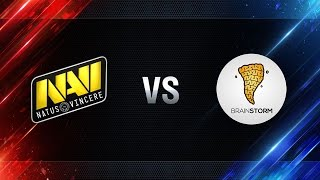 Natus Vincere vs Brain Storm - day 2 week 3 Season I Gold Series WGL RU 2016/17