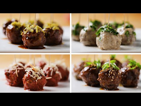 Nina Jackson - Super Bowl Recipes: Party Meatballs 4 Ways