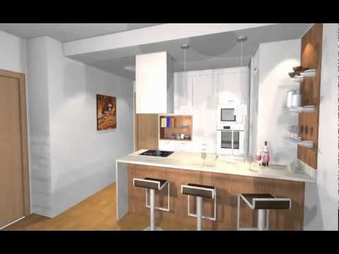 Estudio de cocina office en peninsula -ARREDO-.Mov - YouTube