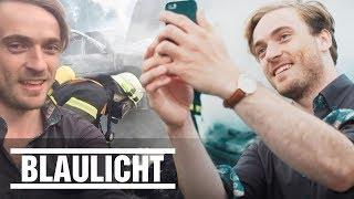 Dieses Schock-Video soll Gaffer abschrecken - Feuerwehr gegen Schaulustige