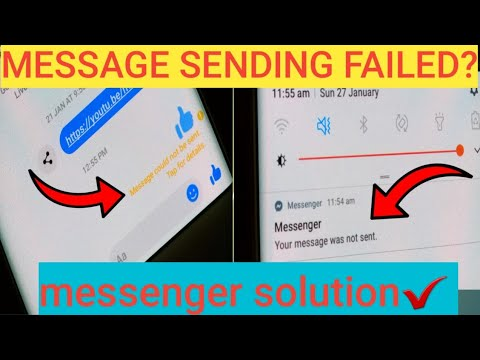 Message Sending Failed In Messenger Messages Block Temporary  | Solution ✔