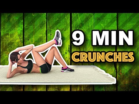 9 Min Crunches For A Flat Stomach